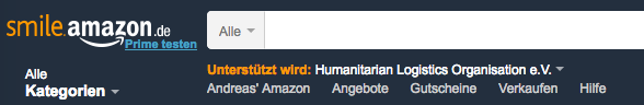 Amazon Smile Seitenkopf